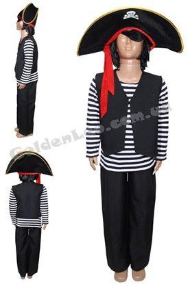 Пиратский костюм для ребенка рост 104, 110