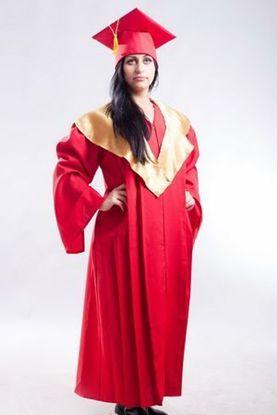 Зображення Мантія випускника магістра червона