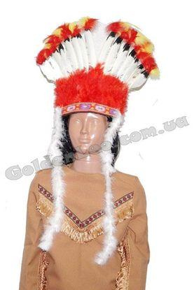 Парик индейца из перьев