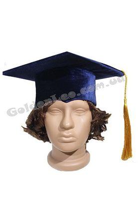 Академическая шапка профессора синяя