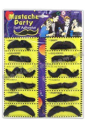 Набор усы карнавальные черные