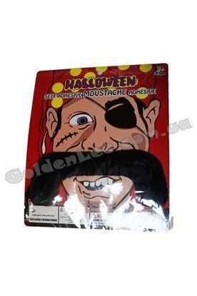 Усы карнавальные черные