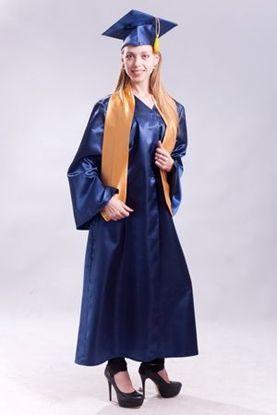 Изображение Мантия магистра синяя с золотым шарфом