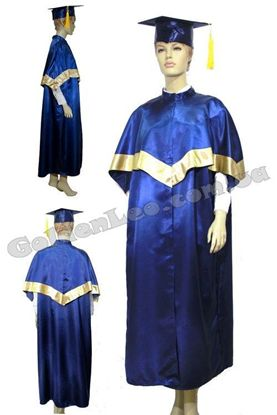 Мантия выпускника бакалавра синяя