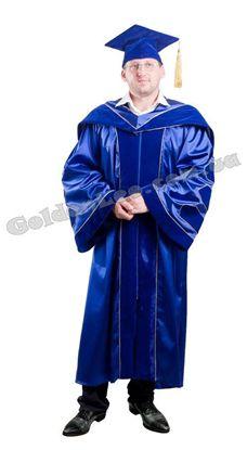 Мантия ректора синяя с шевронами
