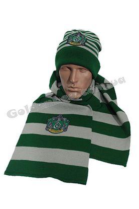 Шапка и шарф Слизерин комплект