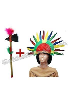 Набір Індіанця перука і томагавк