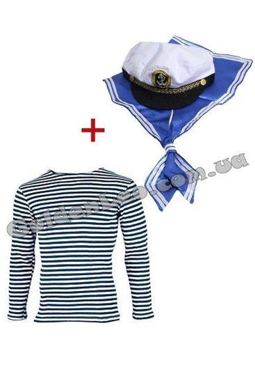 Набор Моряка тельняшка, шапка, гюйс