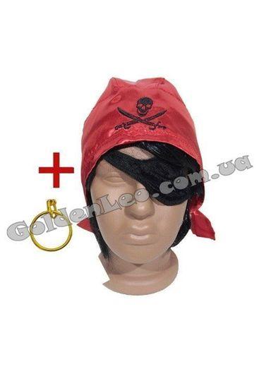 Пиратская бандана, повязка и серьга