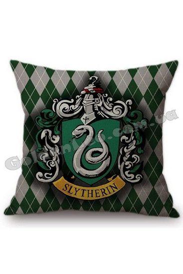 Декоративный чехол на подушку Слизерин