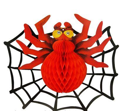 Паутина с пауком на Хэллоуин