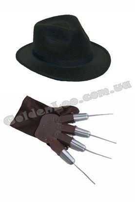 перчатка с лезвиями и шляпа Крюгера
